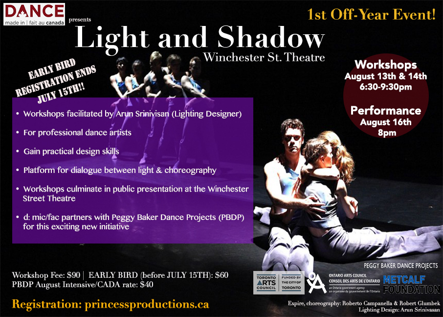 D: Mic/fac Presents  Light & Shadow  Early Bird Registration